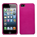 Insten® Phone Protector Cover F/iPhone 5/5S; Solid Hot-Pink