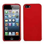 Insten® Phone Protector Cover F/iPhone 5/5S; Solid Flaming Red