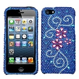 Insten® Diamante Protector Cover F/iPhone 5/5S; Juicy Flower