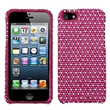 Insten® Diamante Phone Protector Cover F/iPhone 5/5S; Hot-Pink/White Dots