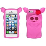 Insten® Pig Nose Cover F/iPhone 5/5S; Hot-Pink