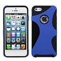 Insten® Cragsman Mixy Rubberized Phone Protector Cover F/iPhone 5/5S, Dark Blue/Black