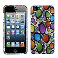 Insten® Phone Protector Cover F/iPhone 5/5S, Rainbow Gemstones (2D Silver)