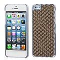 Insten® Alloy Executive Back Protector Cover F/iPhone 5/5S, Brown Silver Plating Plaid/Golden