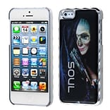 Insten® Alloy Executive Back Protector Cover F/iPhone 5/5S; Silver Plating Lady Soul