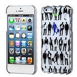 Insten® Alloy Executive Back Protector Cover F/iPhone 5/5S; Silver Plating Handsome Gentleman