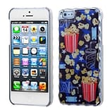 Insten® Alloy Executive Back Protector Cover F/iPhone 5/5S; Silver Plating Refreshing Cola/Popcorn