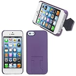 Insten® Back Protector Cover W/Stand F/iPhone 5/5S; Purple