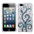 Insten® Diamante Protector Cover F/iPhone 5/5S; Frosty
