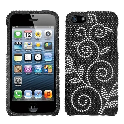 Insten® Diamante Phone Protector Cover F/iPhone 5/5S; Dark Wonderland
