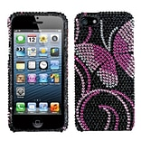 Insten® Diamante Phone Protector Cover F/iPhone 5/5S; Fairyland Butterfly