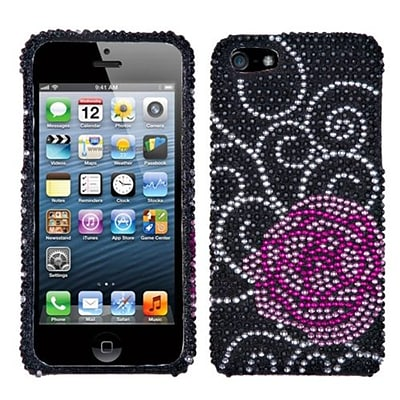 Insten® Diamante Phone Protector Cover F/iPhone 5/5S; Rosey