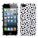 Insten® Phone Protector Cover F/iPhone 5/5S; Black Mixed Polka Dots