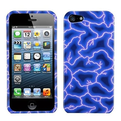 Insten® Phone Protector Cover F/iPhone 5/5S; Blue Lightning