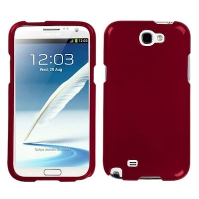 Insten® Phone Protector Case For Samsung Galaxy Note II (T889/I605); Solid Red