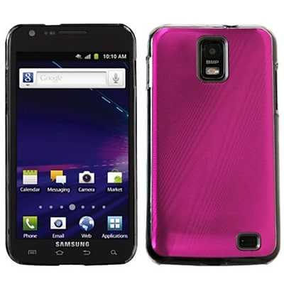 Insten® Cosmo Back Protector Case For Samsung i727 (Galaxy S II Skyrocket); Hot-Pink
