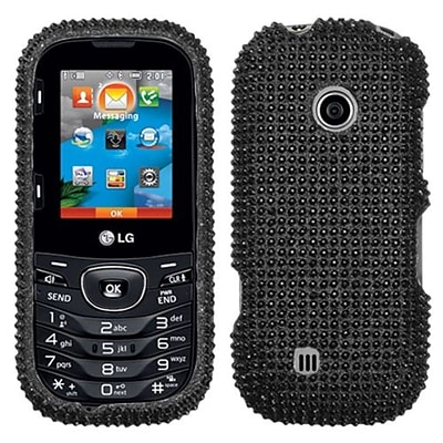 Insten® Protective Hard Case For LG Cosmos2 VN251; Gloss Black Diamond Rhinestone