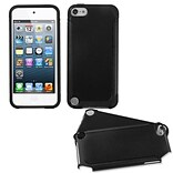 Insten® Fusion Hybrid Cover For iPod Touch 5th Gen; Black