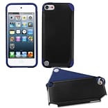 Insten® Fusion Hybrid Cover For iPod Touch 5th Gen; Black/ Dark Blue