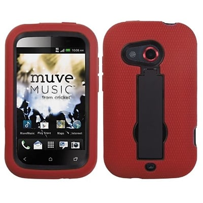 Insten® Symbiosis Stand Protector Cover For HTC Desire C; Black/Red