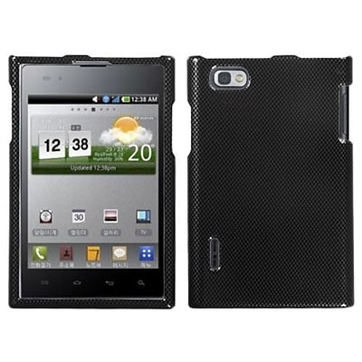 Insten® Protector Cover For LG VS950 Optimus Vu/VS950 Intuition; Carbon Fiber
