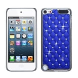 Insten® Alloy Diamond Luxurious Lattice Phone Protector Cover For iPod Touch 5th Gen; Dark Blue