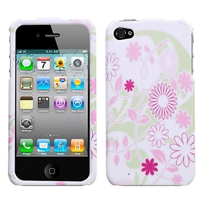 Insten® Phone Protector Cover F/iPhone 4/4S; Floral Garden