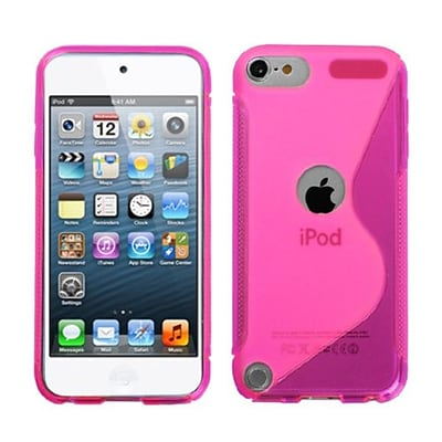 Insten® S-Shape Candy Skin Cover For iPod Touch 5th Gen; Hot-Pink (1016291)