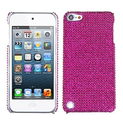 Insten® Diamante Back Protector Cover For iPod Touch 5th Gen; Hot-Pink