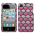 Insten® Diamante Protector Cover F/iPhone 4/4S, Hot-Pink Wavelet