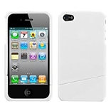 Insten® Phone Protector Cover F/iPhone 4/4S, Natural Ivory White Slash
