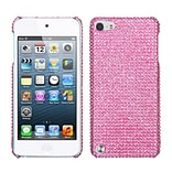 Insten® Diamante Back Protector Cover For iPod Touch 5th Gen; Pink