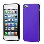 Insten® Argyle Candy Skin Cover F/iPhone 5/5S; Purple/Black