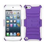 Insten® Advanced Armor Stand Protector Cover For iPod Touch 5th Gen, Purple/Solid White