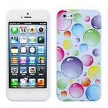 Insten® Argyle Candy Skin Cover F/iPhone 5/5S; Rainbow Bigger Bubbles