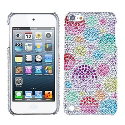 Insten® Diamante Phone Back Protector Cover For iPod Touch 5th Gen; Rainbow Bigger Bubbles