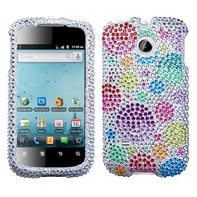 Insten® Diamante Phone Protector Case For Huawei M865 Ascend II; Rainbow Bigger Bubbles