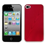 Insten® Cosmo Back Protector Cover F/iPhone 4/4S; Red