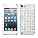 Insten® Diamante Back Protector Cover For iPod Touch 5th Gen; Silver