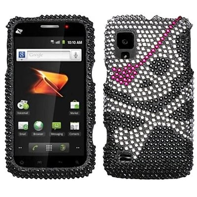 Insten® Diamante Protector Case For ZTE N860 Warp; Skull