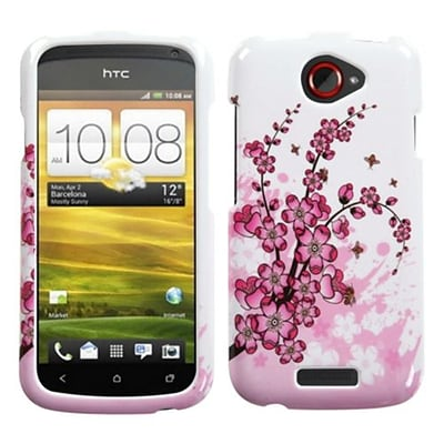 Insten® Protector Case For HTC-One S; Spring Flowers