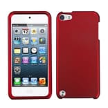 Insten® Phone Protector Case For iPod Touch 5th Gen; Titanium Solid Red