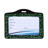 Insten® Horizontal Business Card Holder; Green