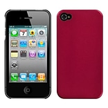 Insten® Back Protector Cover F/iPhone 4/4S; Metallic Red Blendy