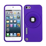 Insten® Camera Style Stand Pastel Skin Cover With Lanyard For iPod Touch 5th Gen; Purple