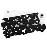 Insten® Flower Shape Fishbone Protector Cover For iPod Touch 5th Gen; Black/Solid White