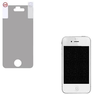 Insten® Glitter LCD Screen Protector For iPhone 4; Silver
