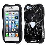 Insten® Car Pattern Hybrid Protector Cover F/iPhone 5/5S; d Lines Black/Black
