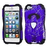 Insten® Car Pattern Hybrid Protector Cover F/iPhone 5/5S; d Lines Purple/Black