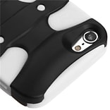 Insten® 3D Fishbone Hybrid Cover For iPod Touch 5th Gen, Black/Solid White